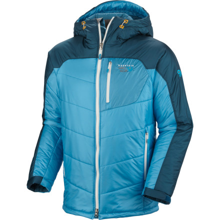 Mountain Hardwear designed the B'Layman Insulated Jacket for the guy who's stuck belaying his buddy, who's taking his sweet time on the wall. Water-resistant shoulders and hood shed the rain and Thermic Micro synthetic insulation still insulates even if it does get wet. - $209.97