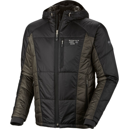 Climbing The Mountain Hardwear Men's Compressor Insulated Hooded Jacket keeps you comfortable and warm while you wait for the rest of your touring crew to catch up with you. This lightweight, compressible jacket also layers easily beneath your shell when nasty storms roll in or when the wind picks up. - $174.97
