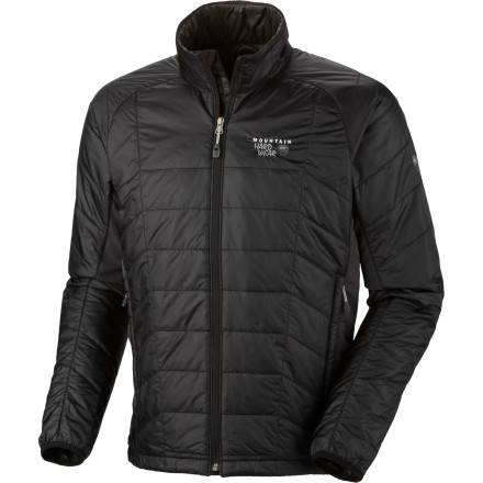Mountain Hardware designed the Men's Zonal Jacket to move with you, not fight you as you try to move around. That's why it placed stretch panels strategically on the sides, so you can raise your arms without binding. It also installed a light layer of Thermic Micro synthetic insulation to take the edge off chilly days without overheating you. - $157.47