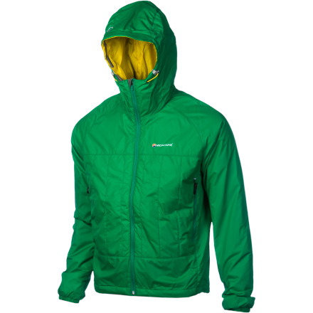 Let the earth-friendly Montane Mens Prism 2.0 Insulated Jacket warm your body and your eco-conscience. Its Primaloft Eco insulation consists of 50% recycled materials. Both windproof and water-resistant, the Prism provides durable protection without the bulk of other insulated jackets. An insulated hood\227as well as an elasticized hem and cuffs\227help keep the heat in and the cold out. - $148.95