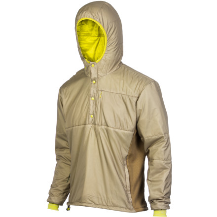 Biting wind and weather might tug at your body heat on the way up the mountain, but the Stoic Men's Luft 60 Anorak fends off the cold weather with relative ease. Synthetic insulation provides warmth without bulkiness, lightweight shell and liner fabric keep this jacket highly packable, and wind-resistant side panels handle the business of repelling chilly breezes. This is a half-snap pullover you can wear alone when you're working up a sweat ascending or as an insulator when wet weather forces you to don your weatherproof shell. - $159.00