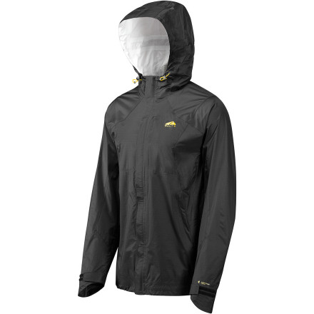 There's about a thousand percent chance that you're going to see rain during your Alaskan trekking expedition this summer. The GoLite Kenai Pertex 2.5 Layer Jacket not only provides the rain protection you need to stay dry, it also weighs in at a mere ten ounces so your pack stays light during those rare bluebird days. - $99.98