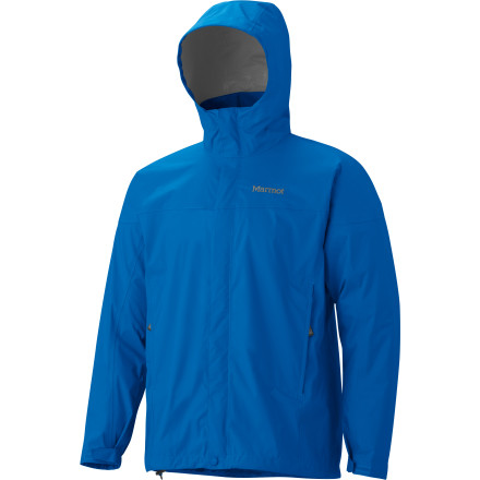 Camp and Hike Pack the Marmot Men's PreCip Jacket as your main shell during ultralight backpacking missions, or stash this highly-packable waterproof jacket in your bag as an emergency layer in case your heavyweight hard shell develops a leak. Minimalist without leaving out any vital fit or finish details, the Precip has a versatile array of features. From underarm venting to full seam taping, and a carefully cut fit that provides full range of upper body motion you'll be hard-pressed to find an excuse to leave home without it. - $99.95