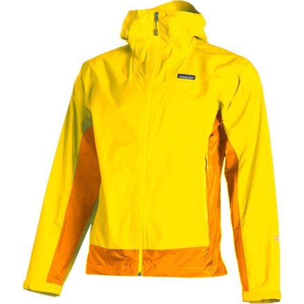 The best wet-weather insurance policy for your next alpine trek is to head out with a quality rain shell like the Patagonia Men's Rain Shadow Jacket. This packable shell features a waterproof breathable H2No membrane to shed wet weather and allow internal heat and water vapor to escape so you stay dry and comfortable. - $122.85
