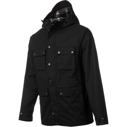 Surf The Quiksilver City Jacket brings street-worthy style and pairs it with rain-jacket technology tested and developed for staying dry on mountain trails. Plenty of storage, simple style, and tech features like fully taped seams and a storm-proof hood make the City Jacket complete. - $105.00