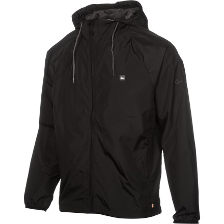 Surf Quiksilver designed the Waterman Stockton Ave Jacket with equal parts stylish function and functional style. The lightweight polyester shell fabric holds the wind at bay and won't absorb water. The fixed hood gives your dome a little protection, and mesh vents keep you from overheating in the Stockton. - $38.68