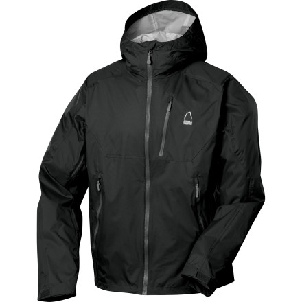 Whether you're trekking in the rain forest, visiting Seattle, or braving a downpour at your kids soccer game, the Sierra Designs Men's Stellar Jacket is built for the job. The Tropozone shell fabric shrugs off wet conditions and breathes so you stay dry and comfortable while underarm zips allow you to ditch some excess heat when the trail gets steep. - $49.98