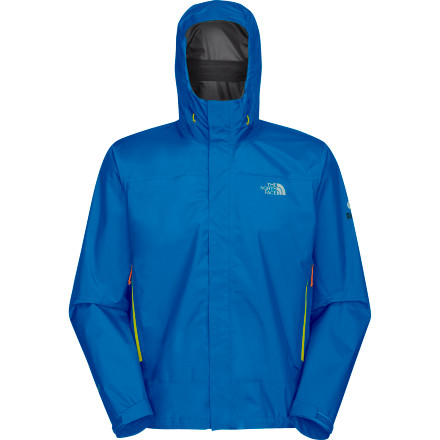Climbing Minimalists rejoice, The North Face Blue Ridge Paclite Jacket eschews pockets for core vents and heavy, urethane-coated fabric for a lightweight waterproof breathable membrane. At just over 11-ounces this jacket serves as a highly-packable insurance policy against foul weather, whether you're a biker, hiker or fast-and-light mountain fiend. Flip up the hood, cinch down the hem and charge into nasty downpours without hesitation. - $155.97
