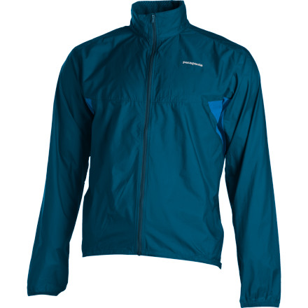 Fitness If you find that Mother Nature is somewhat doubtful of your dedication to running, change her mind with the Patagonia Nine Trails Jacket. Patagonia treated this trail runner with a DWR coating to slough moisture and gave it a slim fit so there isn't excess bulk flapping around halfway up the second hill. The triple-ripstop nylon combines with breathable stretch-woven polyester for supreme comfort over the miles. - $69.30