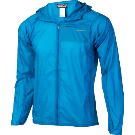 Fitness Patagonia may have named this the Houdini Full-Zip Jacket because when you zip it up, you may as well have done a disappearing act as far as the wind is concerned. Or perhaps because when a jacket weighs only four ounces, it's easy for anyone to think they've lost track of it, even if they're wearing it. Built with water-resistant Deluge DWR coating, the Houdini shields you from whatever the sky may be throwing at you and your expedition. - $99.00
