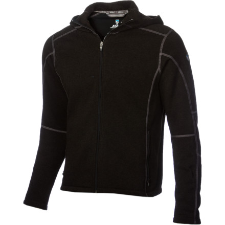 Ski For long flights to faraway mountain ranges, the soft, heavyweight KUHL Revel Full-Zip Hoodie provides comfort and insulation so you can get some shuteye as you jump the pond. Once you arrive, this Kashmira hoodie can act as a heavyweight mid-layer while you ski or explore a new alpine arena. - $98.95