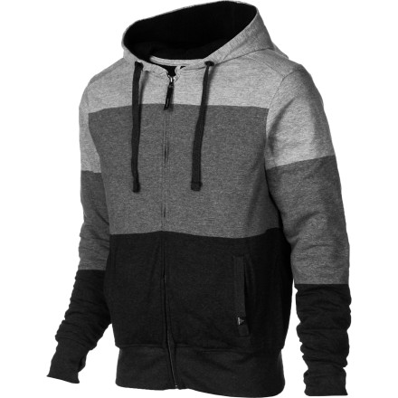 The prAna Lineage Full-Zip Hoodie pushes back the chill to keep you feeling good whether you're huddled around the campfire or braving nippy evening air to grab a six-pack from the corner store. This zip-up throws down with a relaxed, casual look and a soft, luxurious Sherpa lining that will keep you toasty. - $49.47