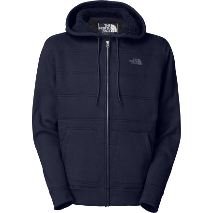 Camp and Hike When you're enjoying a fall camping trip with friends, hunker down near the fire and zip up your The North Face Wanaka Full-Zip Hoodie. This robust, Sherpa-lined hoodie keeps you just as warm as it does stylish while you take in the stars with a brew in hand. - $49.47
