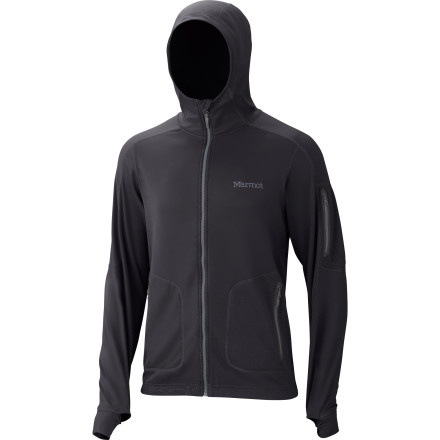 Built with a stretchy, water-resistant exterior and a plush liner, the Marmot Norden Half-Zip Fleece Hooded Sweatshirt can serve as your everyday uniform for fall. Wear it on its own during spells of chilly weather and light precipitation, and layer it under your favorite jacket when the temperature takes a nosedive. - $94.47