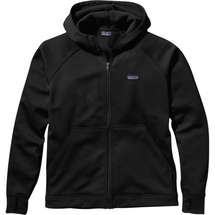 From dawn patrol to last call, theres a place for the Patagonia Mens Slopestyle Hooded Jacket. This stretchy softshell hoody and its soft microfleece lining are at home everywhere from a garage tuning session to a sunny afternoon in the terrain park. The interior fleece wicks moisture while you skin into the backcountry, and the DWR shell coating sheds snow or accidental PBR spills. - $90.35