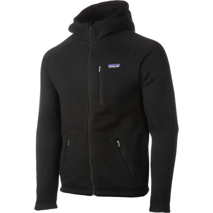 Zip up the Patagonia Better Sweater Full-Zip Hooded Sweatshirt, and step out of the cabin for a weather check at 2 a.m. to see if the storm will break by morning. Spending another day in the alpine cabin would be OK because you have the Better Sweater 1/2s outer knit fabric and soft fleece interior fabric keeping you warm and cozy next to the tiny wood stove. When your turn comes to get the wood, the hood protects your head from the heavy snow, while the polyester fabric wicks sweat as you lug a day 1/2s supply of wood into the one-room shelter . - $111.30