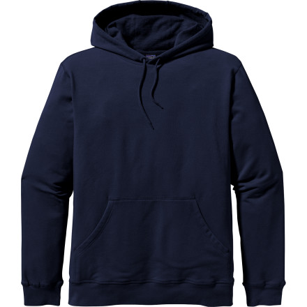 Camp and Hike Crisp nights around the fire at base camp call for the Patagonia Monk Pullover Hooded Sweatshirt. Beefy organic cotton keeps your body warm, rib knit cuffs lock out drafts, and a touch of spandex adds some comfortable stretch to the body fabric. Flip up the hood, kick back, and enjoy the stars while the fleece-lined Monk wards off the chill of nighttime. - $79.00
