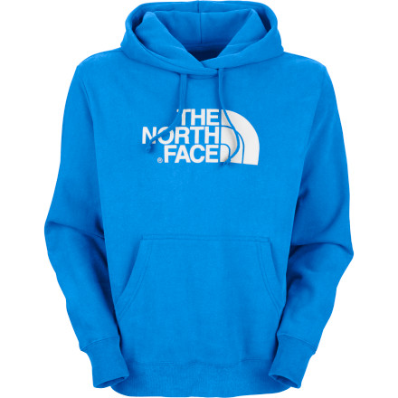 The smart man knows how to wear his basic pieces, and The North Face Half Dome Hooded Sweatshirt is the epitome of casual mountain comfort. The smart man also knows that The North Face's rounded stripe logo represents Yosemite's famous Half Dome. And now you know that too. - $31.47