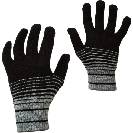 Fitness Toss those bulky mitts to the wolves because the lightweight Stripe Glove 320 will keep your fingers warm enough for winter without all the unnecessary bulk. This is Icebreaker's warmest glove made from merino wool, and it's nice and slim. Slide your fingers into this toasty hand-cover and run around town on a cold day or run along a snow-packed trail without worry of either freezing or sweaty fingers. - $19.47