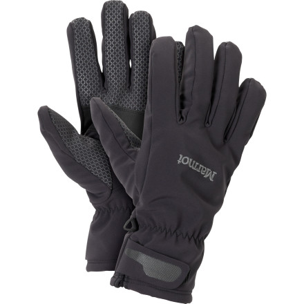 Ski After the first use, you'll see how the Marmot Glide Softshell Glove got its name. Lined with super soft DriClime for comfort and moisture management, the Glide makes spring skiing a breeze. Did we mention it's also made with Marmot's proprietary M2 Softshell to keep you dry' - $29.97