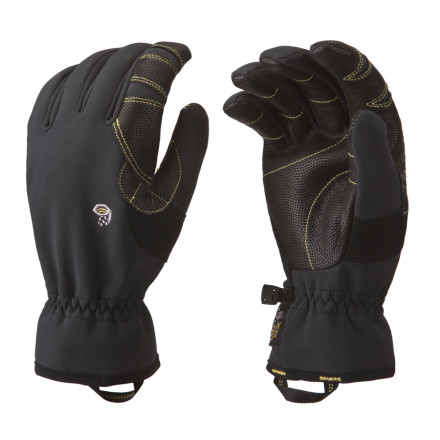 Ski For short ski tours, cruising to the coffee shop, or shoveling out the truck on a powder day, the Mountain Hardwear Torsion Glove fits the bill. This highly weather-resistant softshell glove features stretchy Deflection fabric with a Conduit laminate to shed snow, ice, and slush. - $54.95