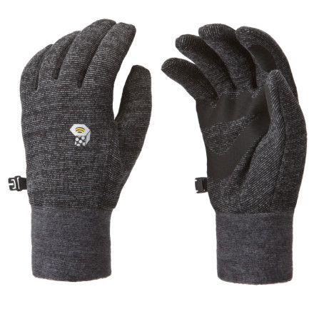 Pull on the snug fitting Heavyweight Wool Stretch Glove from Mountain Hardwear while you're waiting for your buddy to build an anchor. Wool/poly stretch fabric keeps your hands warm when it's wet and cold, while flat lock construction prevents chafing and reduces bulk when you wear these gloves under a waterproof shell. - $22.72