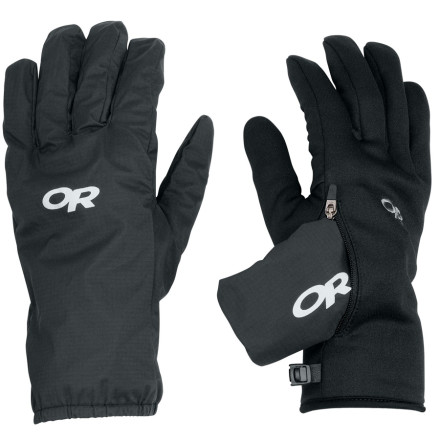 The Outdoor Research Men's Versaliner Gloves utilize a highly durable, waterproof/breathable shell fabric and super warm, removable Radiant Fleece inner liners to prevent the dreaded cold and wet hand ordeal you've faced before. - $48.95