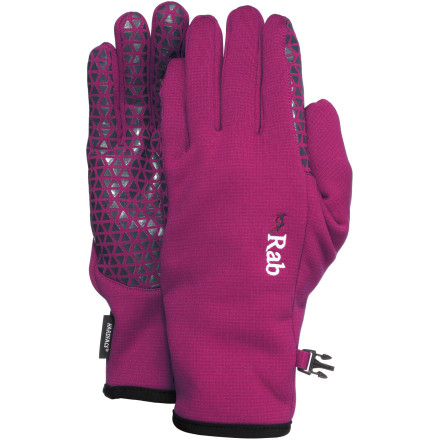 Ski Ditch those heavy mitts and slip on the RAB Women's Phantom Grip Gloves when the temperatures rise. These women-specific gloves keep your hands well-protected from the elements while you ski on bluebird days. - $39.95