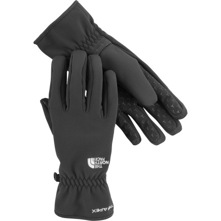 Pull on The North Face Men's Apex Bionic Glove when you need to shovel the driveway or build that snowman with the kids. A DWR coating makes these tricot-lined gloves water-resisatnt, and grippy palms make sure you don't lose your hold. - $44.95
