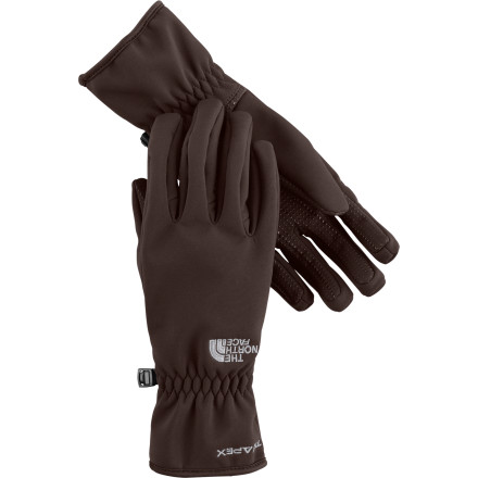 Fitness The North Face Women's Apex Bionic Glove has the warmth and grip you need whether you're driving a freezing car or running errands in the bitter cold. A DWR coating makes these tricot-lined gloves water-resistant and grippy palms make sure you don't lose your hold. - $44.95