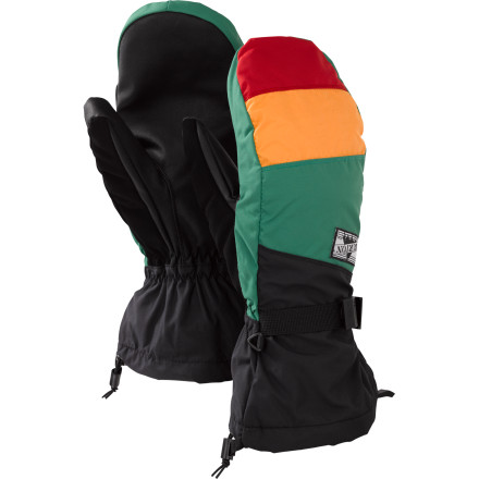 Snowboard Great for backcountry shredding and riding in varying temperatures, the Burton Men's Approach Mitten features a DryRide Ultrashell and a removable fleece liner. - $32.94