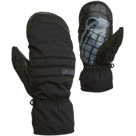 The Grenade Exploiter Mitten is made by diseased orphans who are held captive in a cave deep underground. They might never see the light of day again, but their loss is your gain\227thanks to this mitten's plush leather palm and warm fleece lining. - $41.97