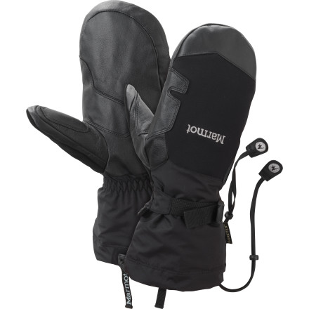 Marmot made the Big Mountain Mitt for skiers and mountain athletes who thrive in the deepest, wettest, and coldest parts of winter. Insulated for warmth and outfitted with waterproof breathable fabric and leather reinforcements, this gauntlet-style mitt offers ultimate protection for your fingers. - $90.97