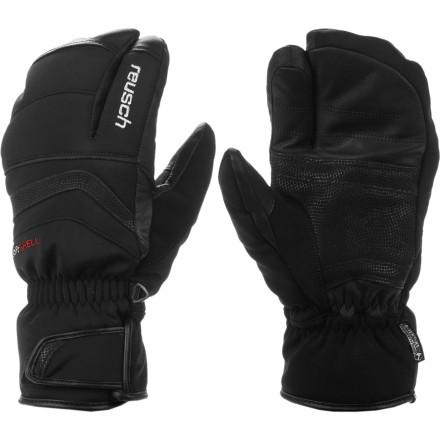 Combining the warmth of a mitten with the dexterity of a glove, the Reusch Arise R-Tex XT Mitten proves that three fingers can be better than five. Stretchy R-loft insulation works with the stretchy R-Tex membrane to keep you warm, dry, and provide maximum mobility. The goatskin on the palm and fingertips gives you a sure grip and durability where you need it most. - $89.95