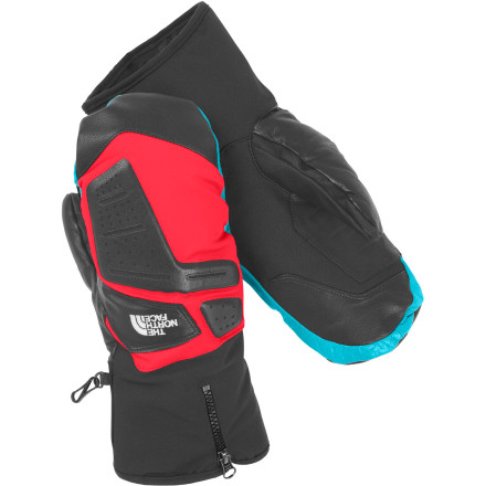 Ski The North Face Gonzo Mitten is built to handle the harsh skiing conditions die-hard skiers will inevitably face. The SuperSpan and leather shell is super-tough and the HyVent membrane keeps your hands dry while allowing moisture to escape. HeatSeeker insulation provides tons of warmth without being bulky, and the FlashDry lining wicks moisture rapidly so that your hands stay dry on intense hikes to the ridge and long runs to the bottom. - $77.97