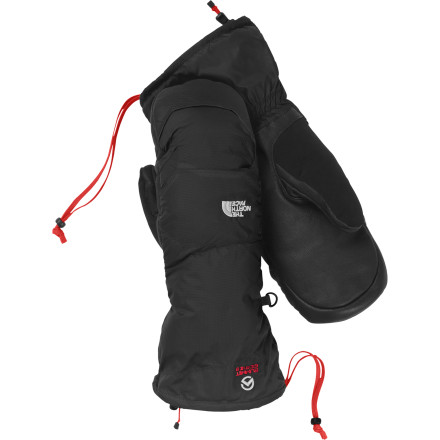 Ski Whether you're planning multiple-day backcountry ski trips or have your sights set on alpine winter climbs, The North Face Nuptse Mitten will take care of your hands during the journey. The 600-fill down insulation provides lofty warmth while the Flashdry liner wicks away moisture to prevent cold and clammy hands. - $119.95