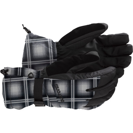Snowboard Dont sleep on the dry, breathable comfort of the Burton Mens Profile Gloveswe suggest tossing these insulated gloves on your hands and heading out to enjoy some face shots instead. Durable two-layer Ultrashell fabric and the Toughgrip synthetic palms protect your hands through seasons of buckling, grabbing, shoveling, and towing. - $27.93