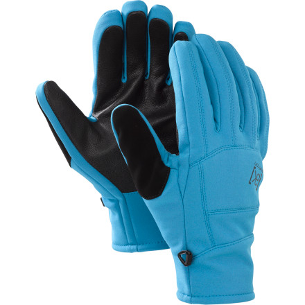 Snowboard The Burton Mens AK Tech Gloves' ultra-low profile design wont get in the way whether youre doing laps in the park or riding choppers in Alaska. These gloves' DWR-coated softshell outers fight off moisture and keep your hands from overheating while you build up a massive hit. - $64.90