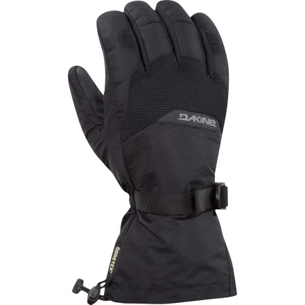 Snowboard The DAKINE Frontier glove hooks up toasty warmth with the reliable waterproofing of a Gore-Tex liner for less than the price of a day ticket at most mountains. High-loft synthetic lining cranks up the heat, while the gauntlet-style cuff prevents snow from creeping up your sleeves. - $29.97