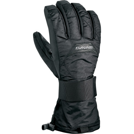 Snowboard Protect your wrist from the #1 most common snowboard injury with the DAKINE Nova Wristguard Glove. The waterproof insert, synthetic insulation, and toasty fleece lining protect you from the elements, while a full-time aluminum stay on the palm side and a removable semi-rigid support on the back of your hand offer customizable wrist protection. - $29.97