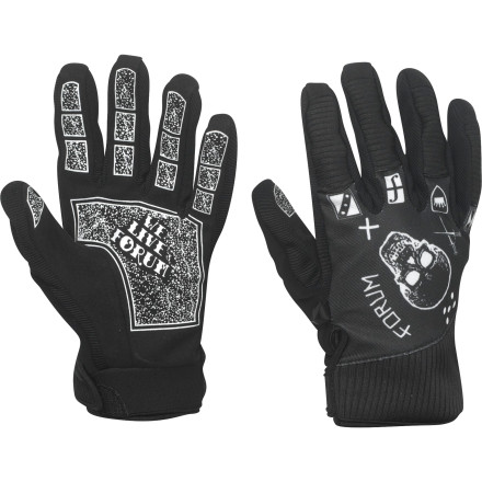 Snowboard The Forum G.O.D. Glove is the supreme being of all that is park and pipe. The stretchy, breathable fabric won't bind up when you move around and won't have you sweating like a one-legged man in an ass-kicking contest. - $26.97