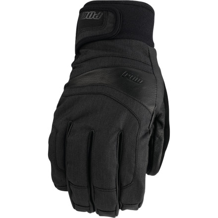 Snowboard Pows Tanto Glove provides enough warmth for bone-chilling temperatures without making you feel like youre wearing boxing gloves. The goat leather/synthetic outer provides low-profile durability, and the 200g Thinsulate insulation cranks up the heatkeeping your hands warm on those days when its so cold your boogers freeze the instant you step outside. The tapered cuff lets the Tanto sit comfortably under your jacket sleeve, and a Hipora waterproof/breathable insert keeps your digits dry. - $69.95