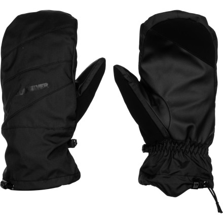Snowboard The Quiksilver Pike Glove brings high-tech materials and quality leather construction together in a cold-stopping mashup that will make your hands happy. Plus, the removable mitten liner gives you two ways to wear these gloves depending on the weather you're getting and the look you want. - $66.00