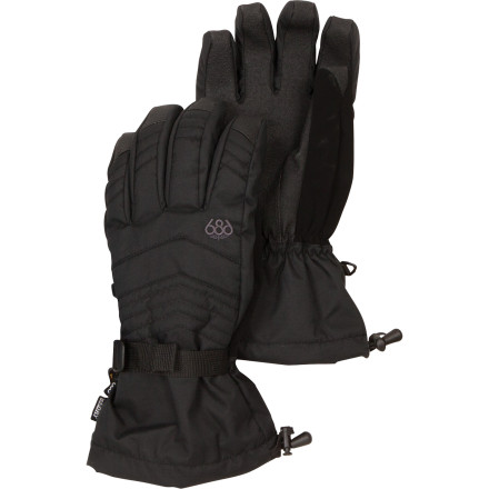 Snowboard Slide your hands into the 686 Smarty Command Insulated Glove and let the high-tech fabrics and infiDry laminate shield you from heavy snow and sub-freezing conditions. These no-nonsense gloves mix straightforward style with smart Smarty design that, like the Smarty jackets, includes a cozy removable liner glove so you get focused weather protection and versatile function. - $33.00