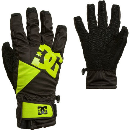 Snowboard Contrary to popular belief, The DC Women's Crucial Taunt Glove does not come with a whammy bar, but its 10K waterproof rating and polyfill insulation will keep your hands warm and dry during the coldest portion of the season. - $38.47
