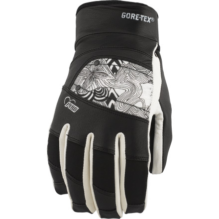 Snowboard In seasons past, cold days turned your paws into ice blocks sending you sniffling back to the lodge empty-handedthose days are over now. Slip on the stylish Pow Feva GTX Glove so you can enjoy the supple dexterity of goatskin with the warmth and protection of Gore-Tex and Thinsulate insulation. Your hands are critical to your new-school bag of tricks, it's time you invested in a glove that will let you make use of them. - $47.97