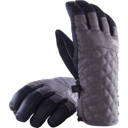 Snowboard The Ride Women's Linda Glove knows that premium materials make happy hands. On the exterior, a goat-leather palm stands up to love-hate relationship between your hands and your board's metal edges while the highly waterproof material covers the exterior from Mother Nature's impending moisture-ridden blast. Inside the glove is a whole different story filled with the comfy goodness of the high-pile fur lining. - $41.97