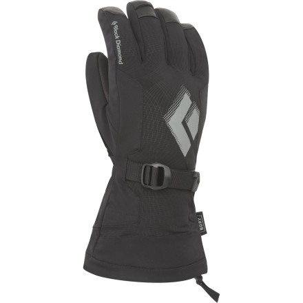 Ski When the snow is pounding and the skiing choice, protect your digits from the cold and the wet with the Black Diamond Soloist Glove. Built with a waterproof breathable membrane, a removable liner, and plenty of insulation, this glove is best suited for high-output pursuits in the cold. - $109.95