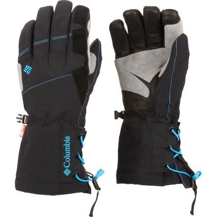 Ski A stretchy shell, waterproof breathable OutDry technology, and plenty of warmth make the Columbia Snow Stryker Softshell Glove your best choice for getting the most out of an epic day on the slopes. To top it off, Columbia gave this long gauntlet an innovative quick-cinch cuff that lets you lock it down against your arm or over your sleeve for a snow-proof fit as you methodically work your way through your list of secret stashes on the mountain. - $86.97