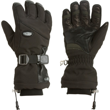Ski With its waterproof breathable Dri-Gard insert and zip-out microfleece liner, the Grandoe Men's GCS Primo Elite Ski Glove offers enough versatility for any condition at the resort. And thanks to the softshell fabric, this glove flexes comfortably while you float through the pow. - $55.22